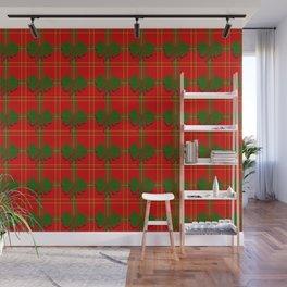 red christmas plaid Wall Mural