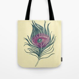 Feather in my eye Tote Bag