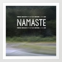namaste Art Prints featuring Namaste by Angela Fanton