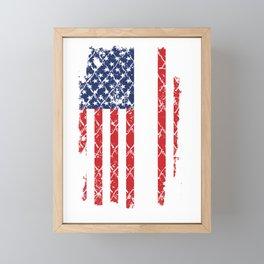 Dowling Flag Usa Surname American Flag Family Name Gift Framed Mini Art Print