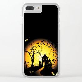 Halloween Castle Nightmare Clear iPhone Case