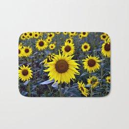 Sunflower Poetry Bath Mat