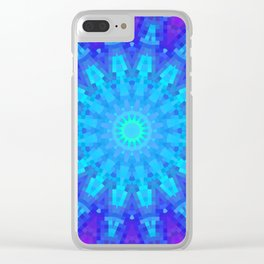 Violet Mandala Mosaic Clear iPhone Case