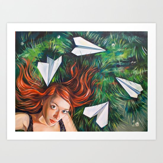 Summer Grass. Tuzello's Dream. Art Print