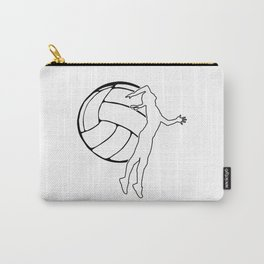 Volleyball Girl | Sports Volleyball Lover Gift Carry-All Pouch