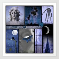 Dream In Blue Art Print