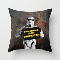 storm trooper Throw Pillows featuring Storm Trooper by ZeebraPrint