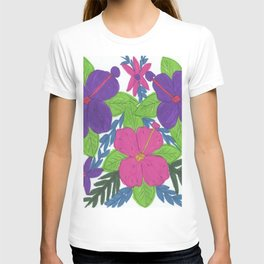 Tropical Hibiscus Bouquet T-shirt