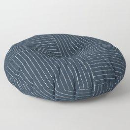 Lines III (Annapolis Blue) Floor Pillow