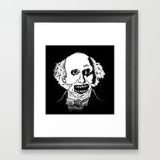 08. Zombie Martin Van Buren  Framed Art Print
