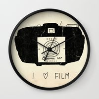 film Wall Clocks featuring I Love Film by Farnell