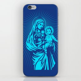 mary mother of god  iPhone Skin
