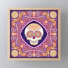 Cute Sugar Skull - Day of the Dead Skull Art by Thaneeya McArdle Framed Mini Art Print