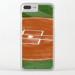 Home Plate Baseball Clear iPhone Case