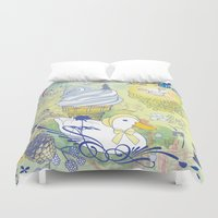 duck Duvet Covers featuring Duck by Raewyn Haughton