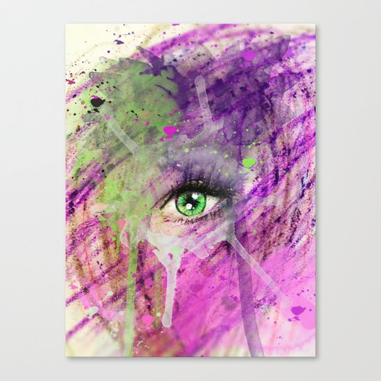 The eye of madness... Canvas Print