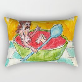 Mullet Head Tony Soup Rectangular Pillow