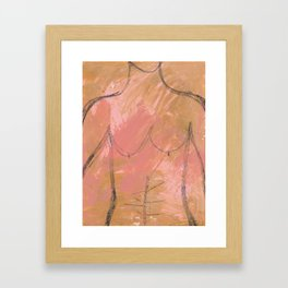 Nude Abstract Couple: His Framed Art Print