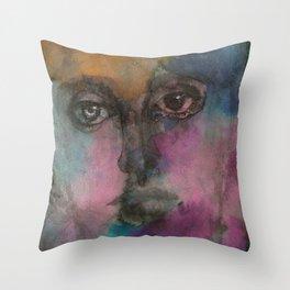 Watercolor Man Throw Pillow