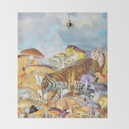Tigress Throw Blanket