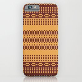 Geometric Motif Ethnic Pattern Mosaic Golden iPhone Case
