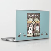 cannabis Laptop & iPad Skins featuring Cannabis, Art Deco by Susan Szecsi