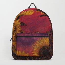 Twilight Sunflowers Backpack