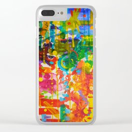 My Colour Wheel Exploded Clear iPhone Case