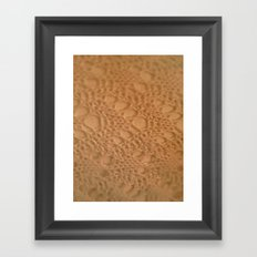 rust ombre crochet cotton Framed Art Print