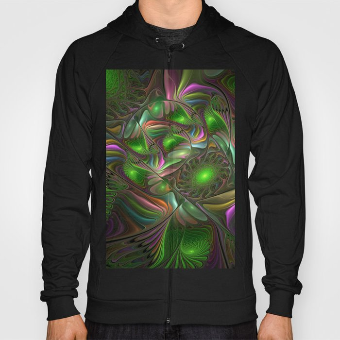 Colorful and Luminous, Abstract Fractal Art Hoody