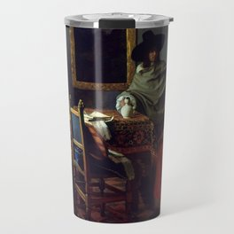 "Johannes Vermeer ""A Lady Drinking and a Gentleman"" Travel Mug"