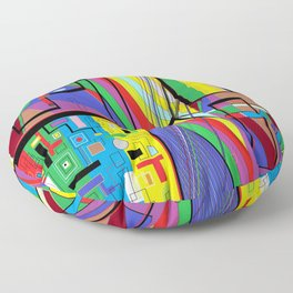Geometry Abstract Floor Pillow
