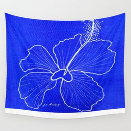 Blue Peace Wall Tapestry