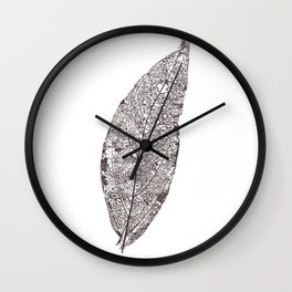 LEAF skeleton_06 Wall Clock