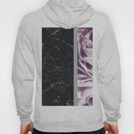 Light Purple Flower Meets Gray Black Marble #6 #decor #art #society6 Hoody