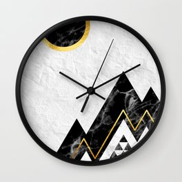 Black Mountains Wall Clock