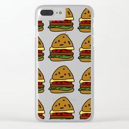 Ham Burger Clear iPhone Case