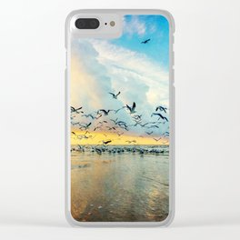 Morning Flight Clear iPhone Case