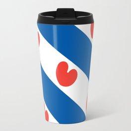 Flag of Friesland Travel Mug