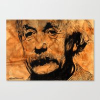 einstein Canvas Prints featuring EINSTEIN by DeMoose_Art