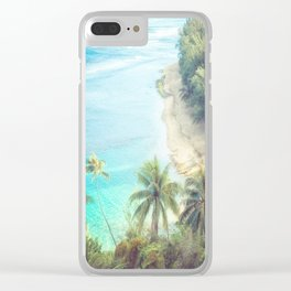 Dreamy Palm Beach Landscape Clear iPhone Case