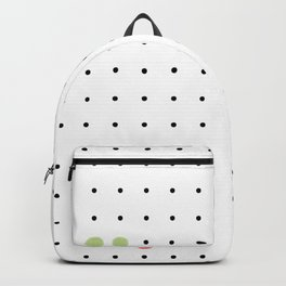 Black Polka Dots and unexpected friendship Backpack