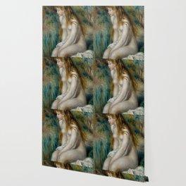 Young Girl Bathing - Claude Monet Wallpaper
