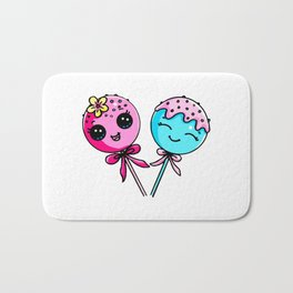 Couple Cake Pops Bath Mat