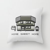 home sweet home Throw Pillows featuring Home Sweet Home  by Zeke Tucker