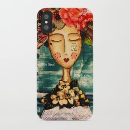 Coco's Closet - Courage and Kind iPhone Case