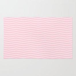 Light Soft Pastel Pink Chevron Stripes Rug