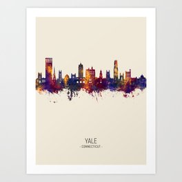 Yale Connecticut Skyline Art Print