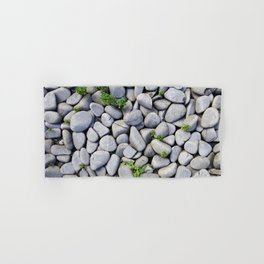 Sea Stones - Gray Rocks, Texture, Pattern Hand & Bath Towel