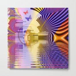 Geometric Glorious Morning Metal Print